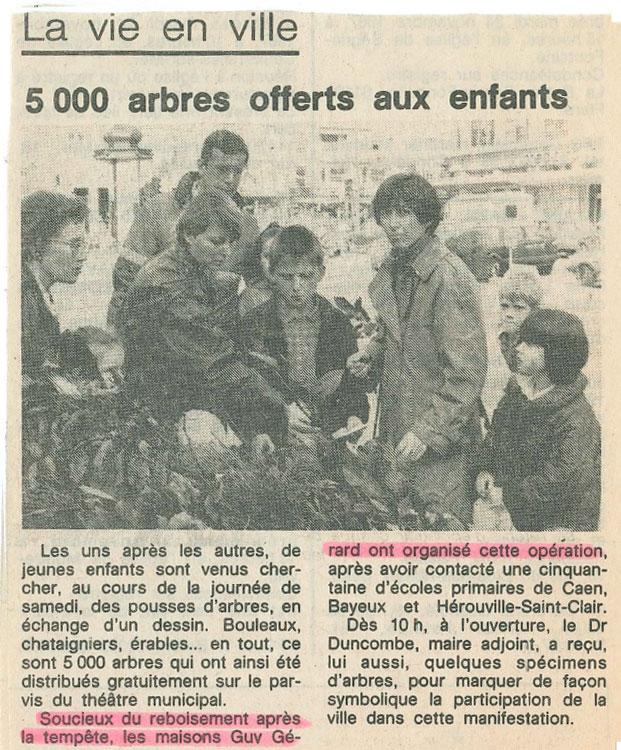 Coupures de presse - 500 arbres