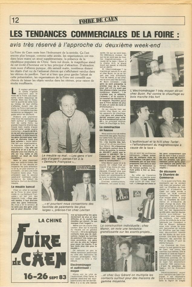 Coupures de presse - Foire de Caen