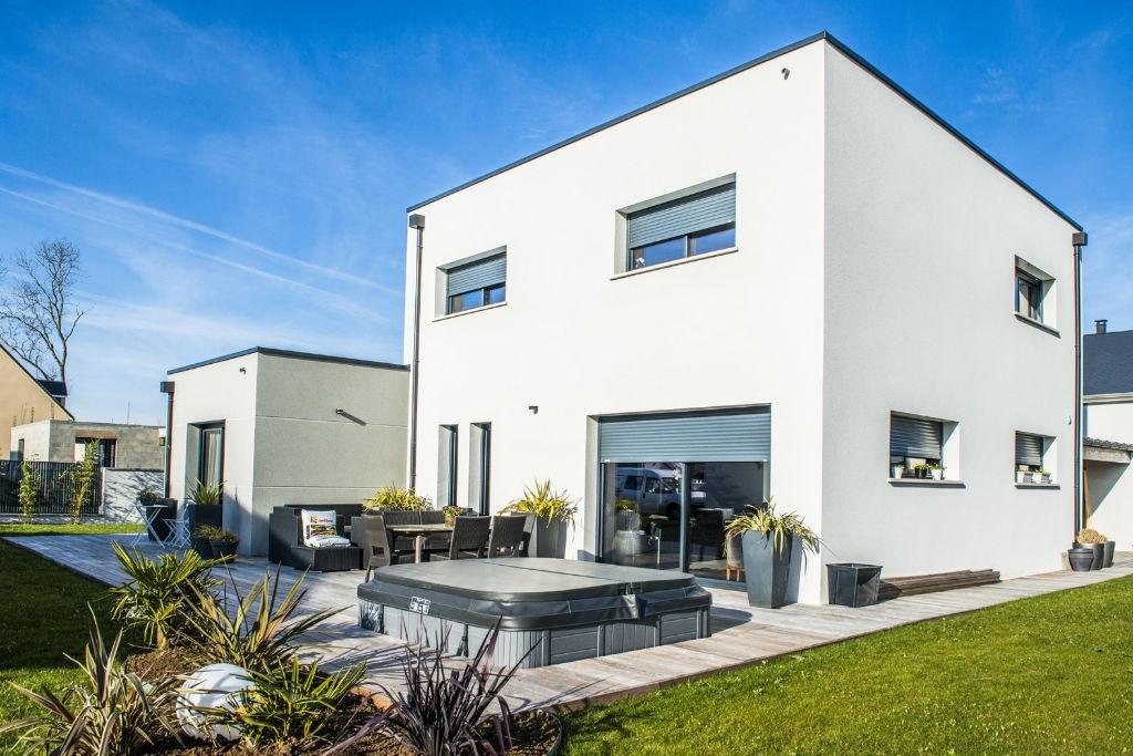 Maison personnalisée moderne toit plat