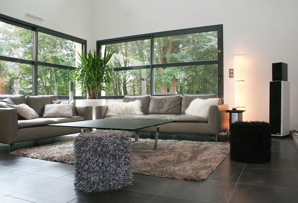 Maison moderne toit arrondi