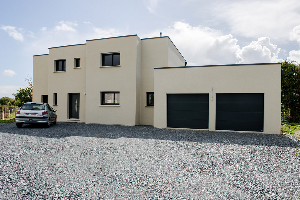maison individuelle toit plat