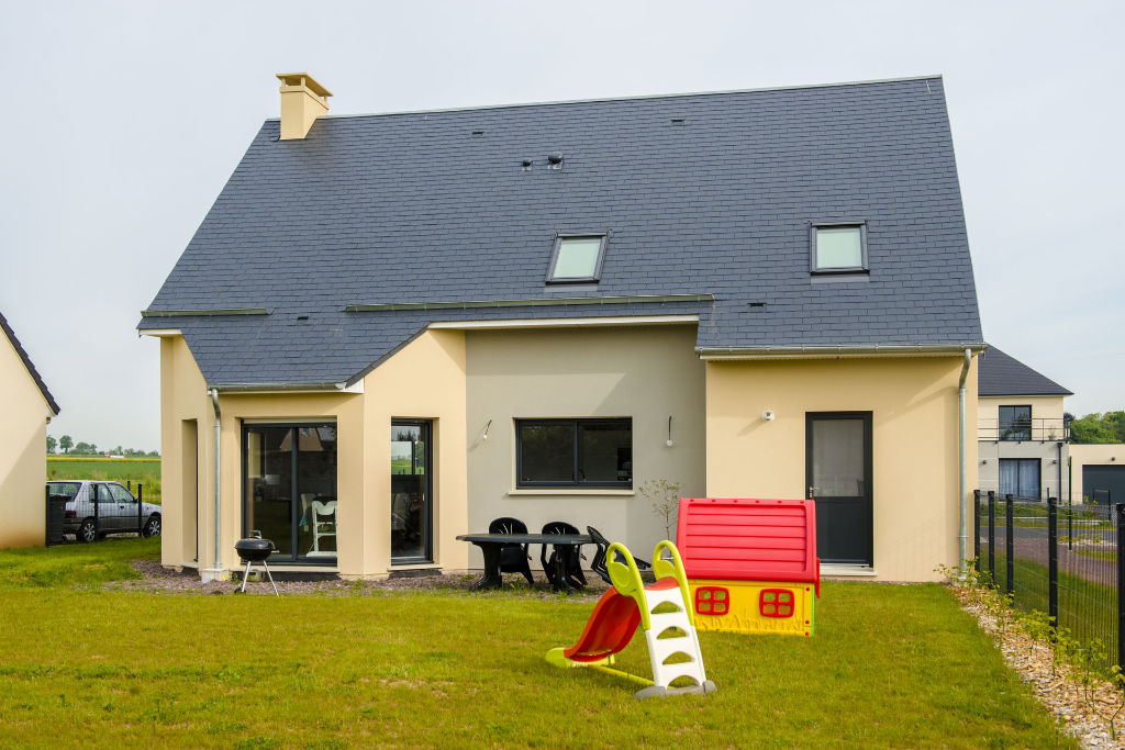 Maison contemporaine toit 2 pans