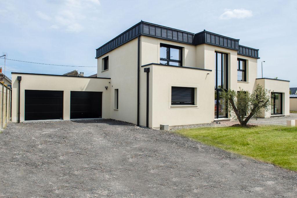 Maison individuelle toit plat zinc
