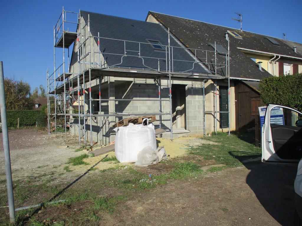 Extension maison mitoyenne en cours