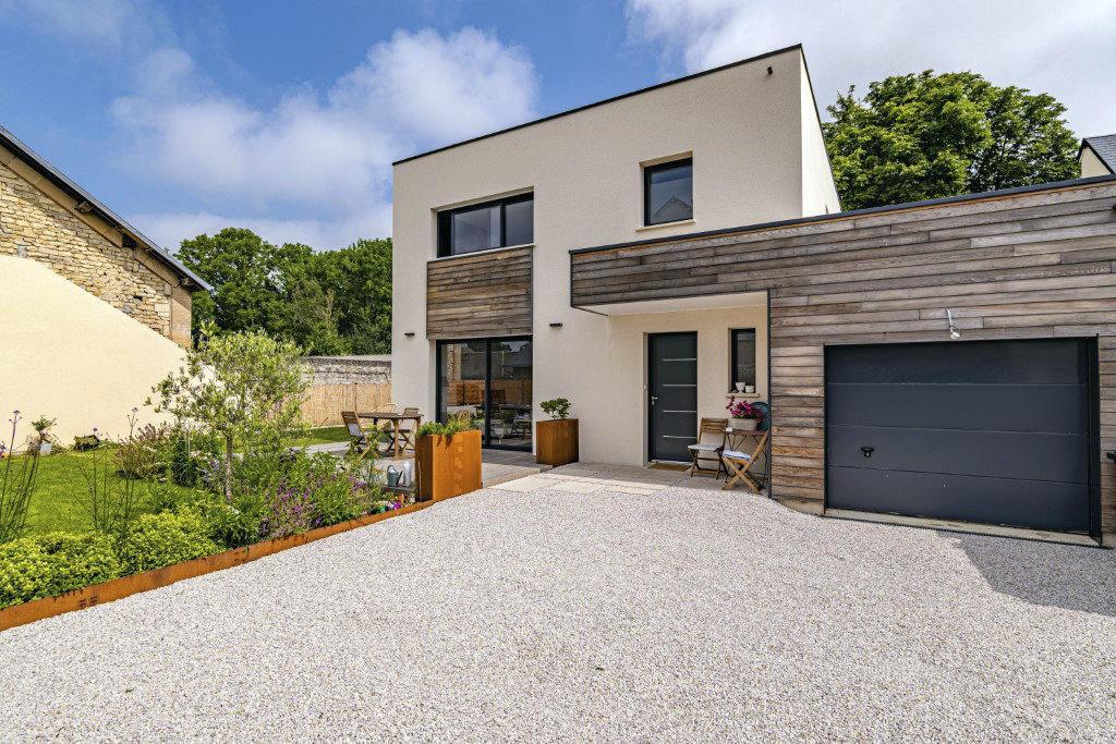 Maison toit plat bois